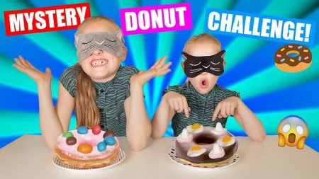 De Zoete Zusjes – De Geblinddoekte Mystery Donut Challenge!! [Wie Raadt Alle Gekke Donuts]