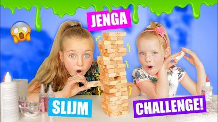 De Zoete Zusjes – Jenga Blokjes Bepalen Onze Slijm Challenge!! [Jenga Slijm Challenge]