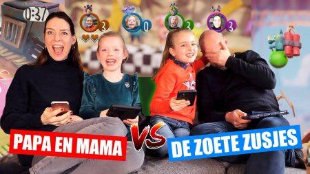 De Zoete Zusjes – Papa en Mama vs. De Zoete Zusjes! [Samen Gamen Met Onze Ouders]
