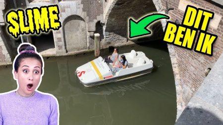 MeisjeDjamila – Slijm Maken Op 'N Waterfiets In De Gracht Met Mijn Moeder! – Slime Sunday