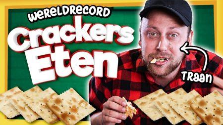 Team Dylan Haegens – Wereldrecord Crackers Eten! – Dat Moet Toch Wel Lukken?