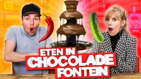 Team Dylan Haegens – Eten In Chocolade Fontein Dippen!