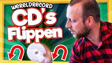 Team Dylan Haegens – Wereldrecord CD's Flippen?! – Dat Moet Toch Wel Lukken?