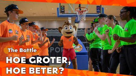 Zappsport – Welke Mascotte Brengt Geluk? – Battle Basketbal