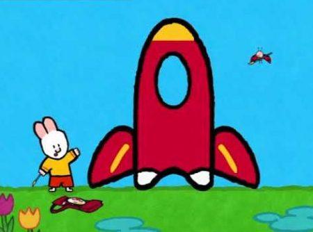 Louie en Yoko –  Louie Tekent Een Raket