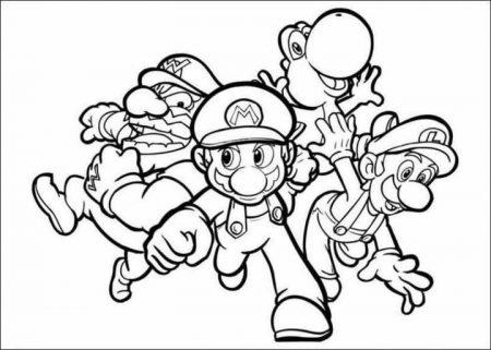 Kleurplaten van Super Mario Bros toegevoegd!