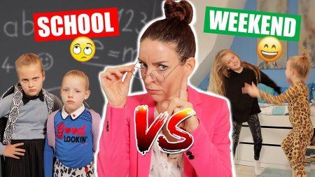 De Zoete Zusjes – School vs Weekend!!! [School Day vs Weekend Sketches]