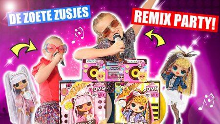 De Zoete Zusjes – We Houden Een Remix PArty Op Onze Kamer!! [Met De Nieuwste LOL Surprise Remix Serie]