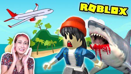 MeisjeDjamila – Roblox Vacation Story – Ontsnappen Van De Enge Haai! – Let's Play Wednesday