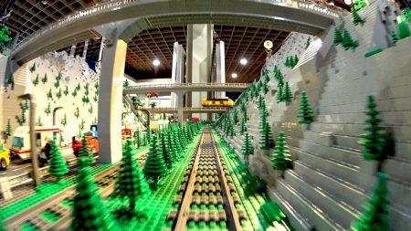 Grote Lego Train Stad Met Onderwater Wereld