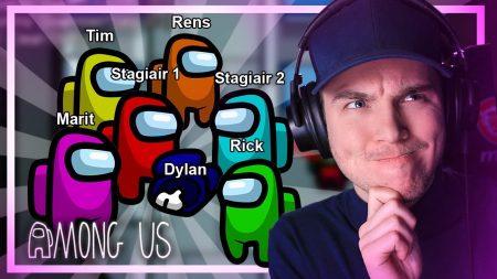 Dylan Haegens Gaming – Iedereen Vermoordt Mij! – Among Us Met Team