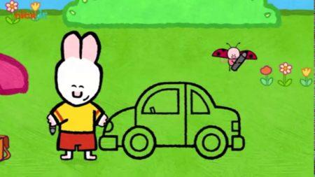 Louie en Yoko –  Louie Tekent Een Politiewagen