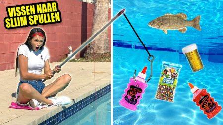 MeisjeDjamila – Vissen Naar Slijm Ingrediënten In Mijn Zwembad! – Slime Sunday