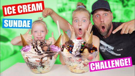 De Zoete Zusjes – Ice Cream Sundae Challenge!!! [Saar vs Janna]