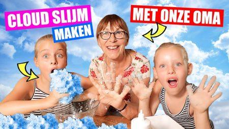 De Zoete Zusjes – Wolkenslijm Maken Met Onze Oma!!! [Cloud Slime Wolken Slijm]