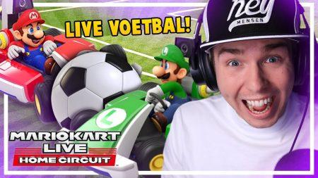 Dylan Haegens Gaming – Real Life Voetbal Met Mario Kart!