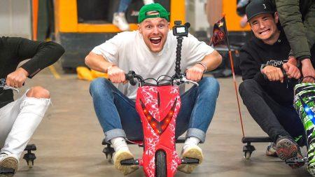 Enzo Knol – Elektrische Drift Trike Race!! ? #2648