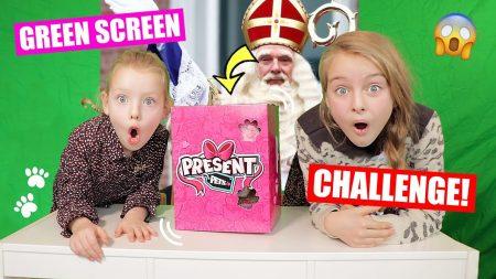 De Zoete Zusjes – De Present Pets Green Screen Challenge!! [Met Coole Sinterklaas Vragen]