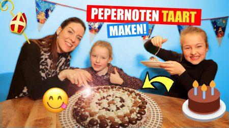 De Zoete Zusjes – Een Mega Pepernoten Taart Maken!!