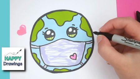 Hoe Teken Je – De Aarde Met Een Mondkapje