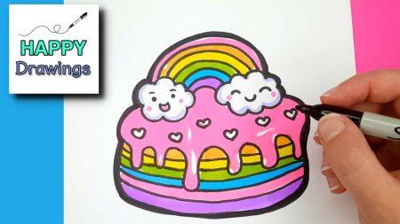 Hoe Teken Je – Een Regenboog Cake