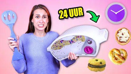 MeisjeDjamila – 24 Uur Overleven Van Eten Uit Een Speelgoed Oven! – Fan Friday