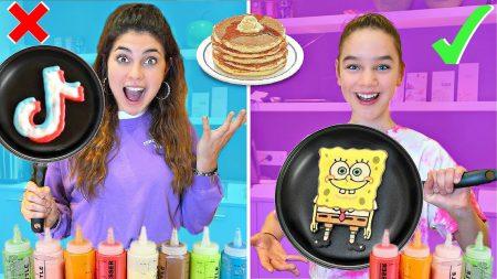 Celine & Michiel – Pancake Art Challenge! Tiktok Logo, Gezichten & Meer.. 🥞 #242