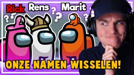 Dylan Haegens Gaming – Iedereen Een Anders Naam! – Among Us Met Team