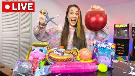 MeisjeDjamila – Live: Mijn Hele Slim Squishie Collectie Open Knippen! – Slime Sunday