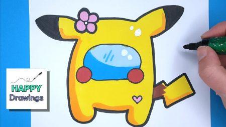 Hoe Teken Je – Een Among Us Pikachu