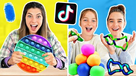Celine & Michiel – Wij Testen Viral TikTok Fidget Toys! *Satisfying* #285