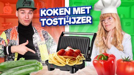 Team Dylan Haegens – Koken Met Alleen Een Tosti IJzer!