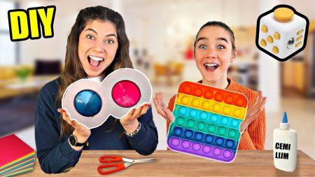 Celine & Michiel – DIY Viral Fidget Toys Maken! #288