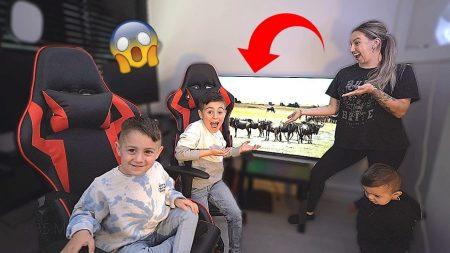 Familie Lakap – Kids Verrassen: Ze Krijgen Een Eigen Mega TV! 😳 #566