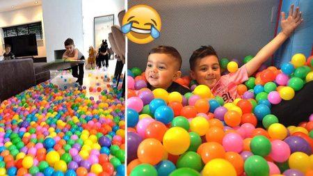 Familie Lakap – We Maken Een indoor Speelparadijs In Onze Woonkamer! #558