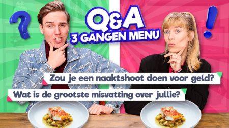 Team Dylan Haegens – 3 Gangen Menu Andersom Op Eten! *Q&A*
