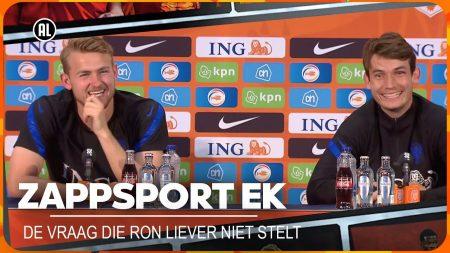 Zappsport EK -Waarom Wordt Matthijs de Ligt 'Dikkie' Genoemd 🤔 En Welke Vraag Stelt Ron ❓