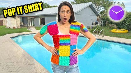MeisjeDjamila – Een Shirt Maken Van Pop Its En Het 1 Dag Lang Dragen! – Fan Friday