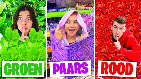 Celine & Michiel – Verstoppertje In 1 Kleur In Speelgoedwinkel Challenge! *Deel 2* #322
