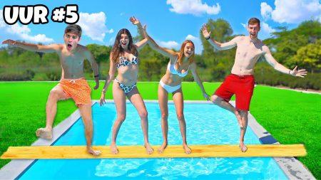 Celine & Michiel – Wie Als Laatste In Het Zwembad Valt Wint!! *Challenge* #325