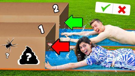 Celine & Michiel – Glijd Niet In De Verkeerde Mystery Box Challenge! *Deel 2* #318