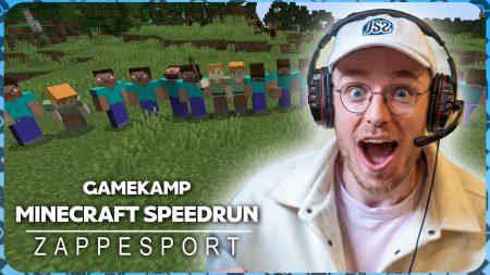 Zappsport – Totale Chaos Op Gamekamp Met Joostspeeltspellen – Speedrun Met 20 Man – Minecraft